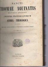sancti thomae aquinatis- summa theologica  volumen II° -  1853 armsp