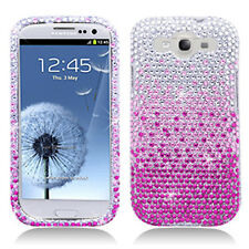 For Samsung Galaxy S III 3 Crystal Diamond BLING Case Phone Cover Gradient Pink