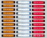 30 x 24V LED FEUX DE GABARIT CAMION CARAVANE REMORQUES CAMPER ORANGE BLANC ROUGE