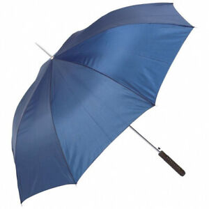 """All weather Umbrella metal shaft & straight wooden handle. 48"""" across the top."""