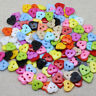 100pcs heart shape plastic buttons fit sewing or scrapbooking 13mm