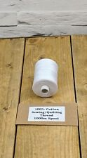 Arctic White Cotton 1000m Sewing/Quilting Thread High Quality Egyptian Cotton