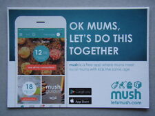 Mush App Ok Mums Let's Do This Together Ephemera Postcard
