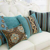 Chenille Pillows Textiles para el hogar funda de cojín jacquard clásico europeo