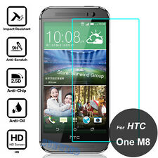NEW Premium Tempered Glass Screen Protector Film Cover Protection for HTC ONE M8