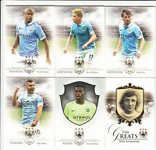 2016 Futera Unique Man City Complete Base Set 1-50 (50 Cards & Empty Box)