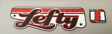"Sticker Decal Set for Old Style Cannondale Carbon Lefty ""Script""-Red, White, Blk"