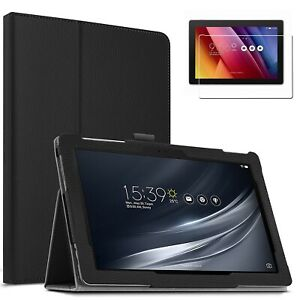 Tablethutbox Slim Smart Case for ASUS ZenPad 10 P023 + Glass Screen Protector