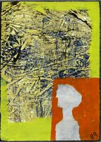 i see a red door (rolling stones) e9Art 5x7 Abstract Figurative Outsider Art