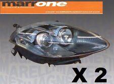 FARI PROIETTORI FANALI ANT Sx E DX  FIAT BRAVO 2009> H1-H1 P/GRIGIA MAGNETI  M.