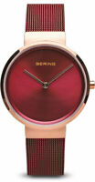 Bering Time Watch - Classic Ladies Red Dial and Mesh Band 14531-363
