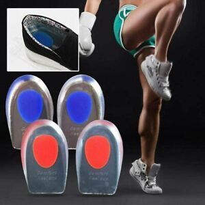U Shape Silicone Gel Cushion Soles Foot Heel Support Protectors Damp Pain Relief