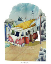 Deluxe Camping Van Birthday Card Multi Purpose Fathers Day Car 3D Swing Pop Up