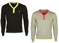 Mens Daniel Christian Long Sleeve T-Shirt Y-Neck Designer Casual Cotton Top S-XL