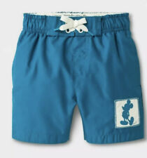Junk Food Boys Disney Mickey Mouse Swim Trunks Swimsuit Board Shorts Toddler 4T