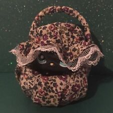 Littlest Pet Shop LPS #994 BLACK CAT With Handmade Basket and Hats/Accessories