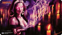 MTG Play Mat Snuff Out signed by Steve Argyle Magic Gathering Playmat