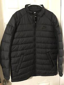 Nike Sportswear AV15 Synthetic Jacket Men's Size Large- Black 806859 010