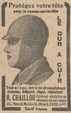 Y5905 Casque H. CHAILLOU - Pubblicità d'epoca - 1929 Old advertising