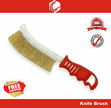 """9"""" Rust Cleaning Wire Brush Brass Knife Brush - Rust Removal"""