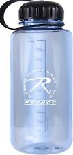 Large Water Bottle 32oz Wide Mouth Shatterproof Clear Plastic BPA Free Screw Cap