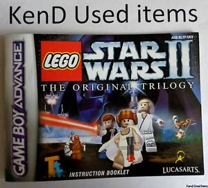 NINTENDO GAMEBOY ADVANCE Lego Star Wars II instruction booklet manual PAL GAME B