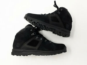 Timberland GT Scramble Waterproof Mid Hiker Hiking Boots Black Suede Mens Size 9