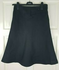 Next Ladies Black Linen A Line Flared Fully Lined Skirt Size UK 6 / EU 34