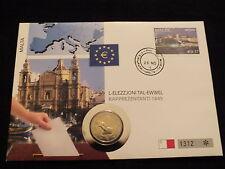 2 EURO NUMISBRIEF  MALTA 2011 SELTEN RAR