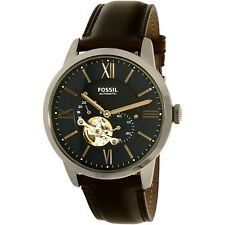 Fossil Men's Townsman ME3110 Blue Leather Automatic Dress Watch