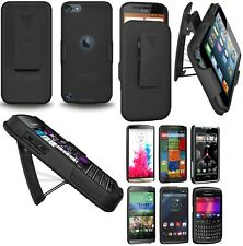 AMZER Hard Shellster Belt Clip Case For Apple BlackBerry HTC LG Motorola - Black