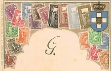 Greece,Postcard Showing Stamps from Greece,Embossed,Ottmar Zieher,c.1901-06