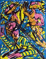 """DDR-Kunst. """"U-Stadt"""" 1986. Serigr. Paul BÖCKELMANN (*1952 D), handsigniert, 2/15"""