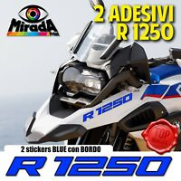 ADESIVI STICKERS AUTOCOLLANT PER BMW GS R 1250 BLUE BLU ADVENTURE MOTO RALLY HP