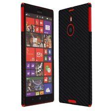 Skinomi Carbon Fiber Black Skin+Screen Protector Cover for Nokia Lumia 1520