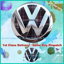 Vw Mk6 Interlagos Plaid Trasero Insignia Insert Vinilo Mkvi Volkswagen Gti Golf R