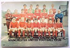 Manchester United 1970's Coffer Team Poster George Best Denis Law Bobby Charlton