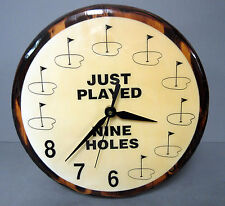 New Just Played 9 Holes Funny Round Golf Wall Clock Golfer Unique Clocks