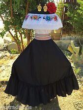 Mexcian Dress Fiesta,5 De Mayo,Wedding Black 2 Piece.Vestido de Fiesta Mexicana