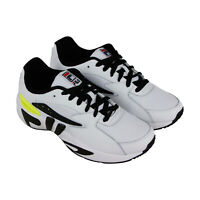 Fila Mindblower Slv Mens White Leather & Textile Low Top Sneakers Shoes