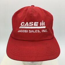 Vintage Case IH Tractor Jacobi Sales Inc Red Trucker Hat K Products Made in  USA 633b81d6f488