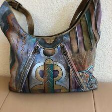 Anuschka Hand Painted Shoulder Bag Purse Handbag