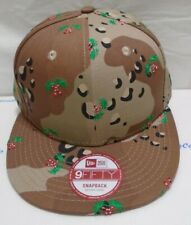 New Era Men's 9FIFTY Snapback Medium-Large Cap Hat Camo Candy Cane Palm Trees