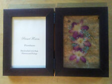 Pressed Dried Flowers Picture Frame - Orchids Signed By Impress Flower 5 X 4