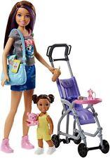 Barbie Babysitters playset con Bambola Skipper Bebè e Passeggino di Mattel FJ
