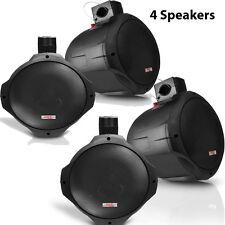 QTY 4 New Pyle Hydra PLMRB65 6.5'' 200 Watt 2-Way Black Wake Board Speakers