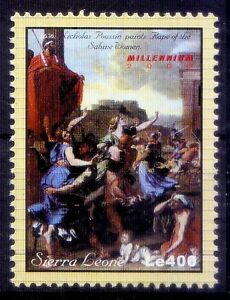 Sierra Leone 2000 MNH, Nicholas Poussin Painting, Rape of Sabine Women