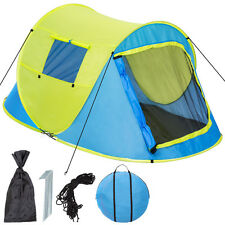 Grande tente instantanée 2 personnes pliante pop up + housse de transport jaune