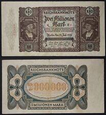 GERMANIA GERMANY 2 MILLIONEN MARK 23/7/1923  PICK #89 a  #B558
