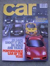 Car (Nov 2000) Performance Car of the Year, Aston Vanquish, BMW M3, TVR Tuscan